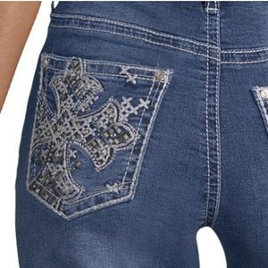 NWT Love Indigo Cross Pocket Bootcut Jeans